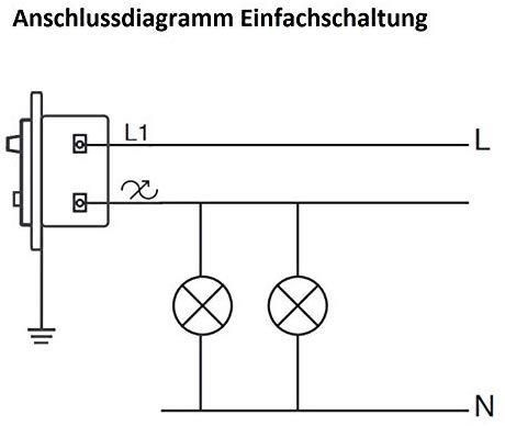 Anschlussdiagramm Einfachschaltung
