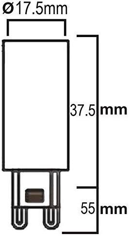 Lampe mit Durchmesser 17,5 mm und Höhe 55 mm