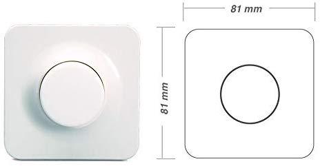 Viribright 200W LED + Halogen Unterputz Dreh-Dimmer mit Breite und Höhe von 81 mm