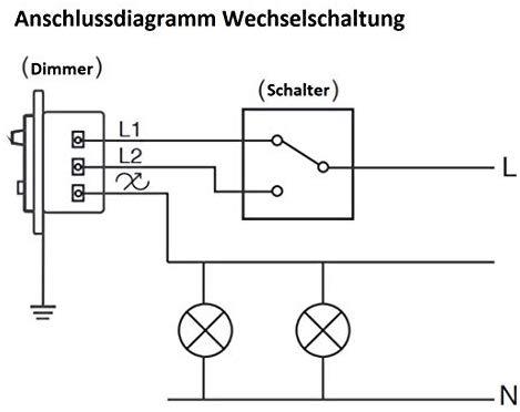 Anschlussdiagramm Wechselschaltung