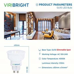 VIRIBRIGHT Product Parameters GU10 LED Bulb